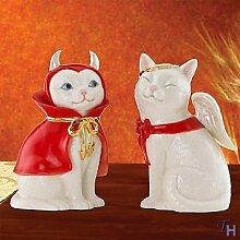 Cat Angel & Devil Salt & Pepper Shaker Set by