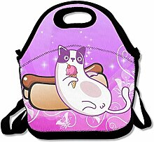 Cat Hot Dogs Sofa Ice Cream Lunch Tote Insulated