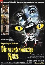 Cat O Nine Tails Poster 06 Metal Sign A4 12x8 Aluminium