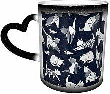 Cat Origami Wickelbecher Kaffeebecher Design