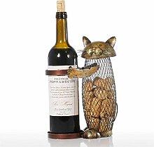 Cat Shape Weinregal Cork Metal Weinfass Cork