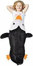 Catalonia Penguin Tails Decke Super Soft Plüsch