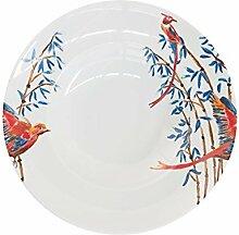 Catchii Bambus und singende Vögel Pasta Teller,