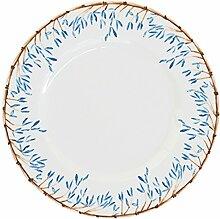 Catchii blau Bambus Teller, Mehrfarbig, 21cm,