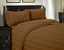 Cathay Home Luxe Felldecke Kuscheldecke, Full/Queen, caramel
