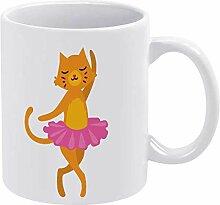 Caticorn, lustige Keramik-Kaffeetasse, Porzellan,