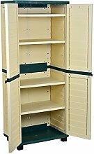 Catral 63010003–Schrank 4Regalböden, 75x 52.5x 187cm, grün und beige