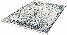Cats Collection einzigartiger Teppich Flachgewebe hand woven indigo ca. 160 x 230 cm