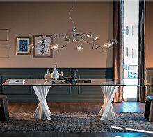 Cattelan Italia PLISSET Esstisch mit Glasplatte