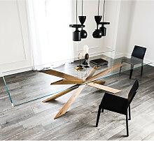Cattelan Italia SPYDER Esstisch mit Holzgestell &