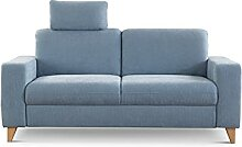 CAVADORE 2,5-Sitzer Sofa Lotta / Skandinavische