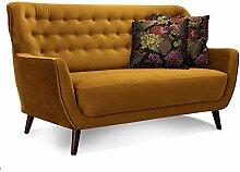 CAVADORE 2-Sitzer-Sofa Abby / Retro-Couch mit