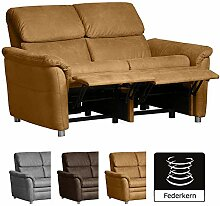Cavadore 2-Sitzer Sofa Chalsay inkl. Relaxfunktion