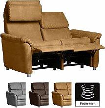 Cavadore 2-Sitzer Sofa Chalsay inkl. verstellbarem