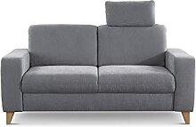 CAVADORE 2er Sofa Lotta / Skandinavische