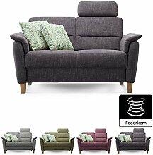 Cavadore 2er Sofa Palera mit Federkern/Couch