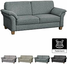 CAVADORE 3-Sitzer Byrum / Landhaus Sofa mit