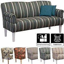 Cavadore 3-Sitzer Sofa Pasle mit Federkern für