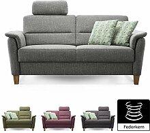 Cavadore 3er Sofa Palera mit Federkern/Couch