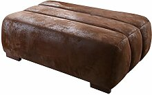 Cavadore 478 Hocker Scoutano, 113 x 42 x 74 cm, antik chocco