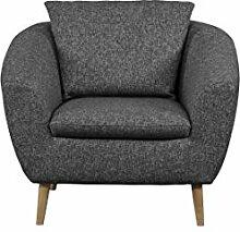 Cavadore 5220 Sessel, Schaumstoff, grau, 99 x 89 x 78 cm