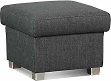 Cavadore 5900984021211 Hocker, Schaumstoff, grau, 58 x 58 x 45 cm