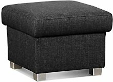 Cavadore 5900984021334 Hocker, Schaumstoff, schwarz, 58 x 58 x 45 cm