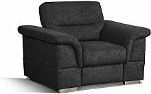 Cavadore 5900984021389 Sessel Ecksofa, Schaumstoff, schwarz, 117 x 93 x 87 cm