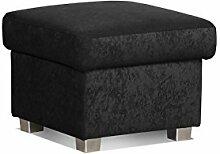 Cavadore 5900984021396 Hocker, Schaumstoff, schwarz, 58 x 58 x 45 cm