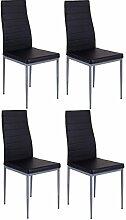 Cavadore 85758 Pegasus Stuhl, Lederimitat, schwarz, 42 x 53.5 x 96.5 cm
