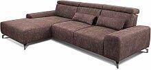 CAVADORE Eckcouch Gizmo / Leder-Sofa in L-Form mit