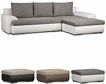 Cavadore Ecksofa Leriot / Sofa mit Strukturstoff
