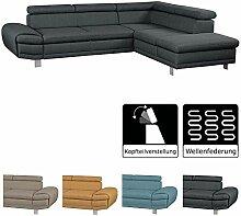Cavadore Ecksofa Marool / Großes Sofa mit