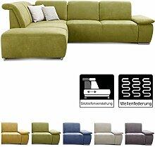CAVADORE Ecksofa Tabagos / Couch mit Ottomane