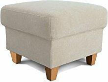 Cavadore Hocker Finja, Fußablage, Hocker im Landhausstil, passend zum Sessel Finja, Maße: 59 x 47 x 59 cm (BxHxT), Farbe: Hellbeige (cream)