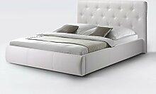 CAVADORE Kunstleder Bett ohne Stauraum CLARA in