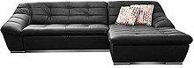 Cavadore Leder-Sofa Lucas / Echtleder-Couch mit