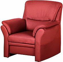 CAVADORE Sessel Klariza mit Federkern/Fernsehsessel im Modernen Design/99 x 102 x 91/Leder in Ro