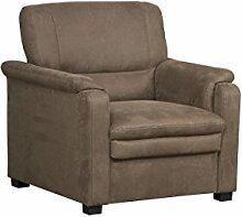 Cavadore Sessel Pisoo im klassischen Design / Gemütlicher Fernsehsessel fürs Wohnzimmer / Wohnzimmersessel / Größe: 86 x 89 x 90 cm (BxHxT) / Farbe: Braun