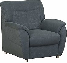 CAVADORE Sessel Sunuma/Dunkelgrauer Polstersessel mit Federkern passend zum Sofa Sunuma/Modernes Design/Größe: 95 x 91 x 90 cm (BxHxT)/Farbe: Grau