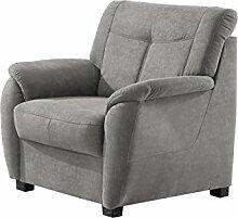 Cavadore Sessel Sunuma / Gepolsterter Sessel mit Federkern im modernen Design / Größe: 93x91x90 cm (BxHxT) / Farbe: Grau