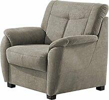 Cavadore Sessel Sunuma / Gepolsterter Sessel mit Federkern im modernen Design / Größe: 93x91x90 cm (BxHxT) / Farbe: Hellgrau