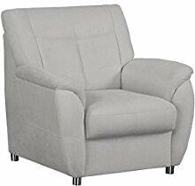 Cavadore Sessel Sunuma mit Federkern / Moderner Polstersessel passend zum Sofa Sunuma / Größe: 95 x 91 x 90 cm (BxHxT) / Farbe: Hellgrau
