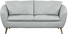 Cavadore Sofa Flira mit Rückenkissen,