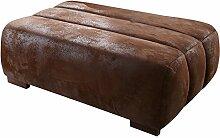 Cavadore Sofa-Hocker Scoutano in Antiklederoptik /