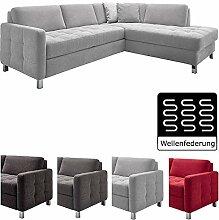 Cavadore Sofa Paolo mit gesteppter Sitzfläche /