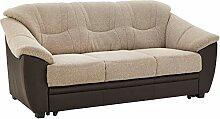 Cavadore Sofa Savana mit Bettfunktion / 3-sitzige