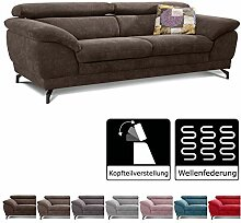 Cavadore Sofa Sheldon / Große Couch mit
