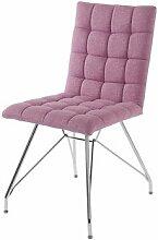 CAVADORE Stuhl ALMA / im 2er Set / moderner Küchenstuhl / Webstoff Altrosa / 44 x 56.5 x 87 cm (L x B x H)