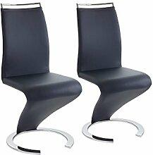 CAVADORE Stuhl Helen/Qualitativ hochwertiger Stuhl mit Lederimitat in dunkelblau/49,5 x 61,5 x 100,5 cm